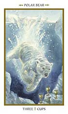 3 of cups - Polar Bear